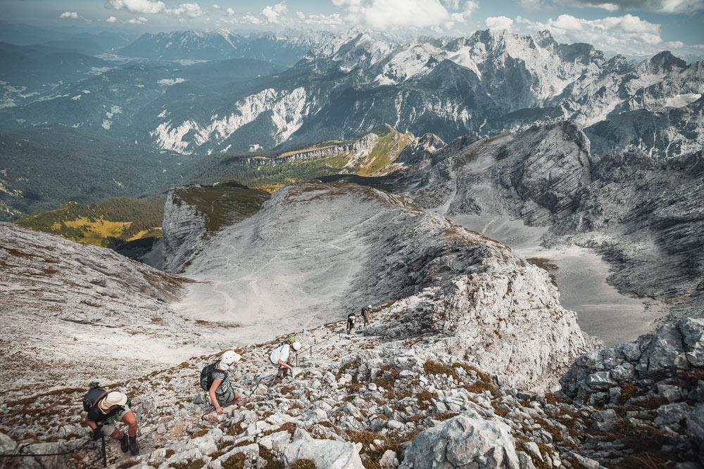 Klettersteig Alpspitze : Alpspitz ferrata